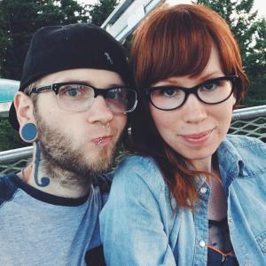 Rad couple on ferris wheel adventure