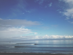 washington beach on straight of jaun de fuca