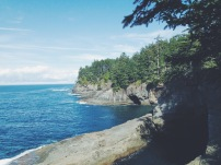 Washington coastline neah bay cape flattery